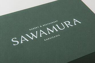 SAWAMURAのグラフィックデザイン