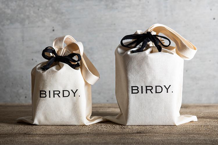 BIRDY. GIFT 巾着のパッケージデザイン
